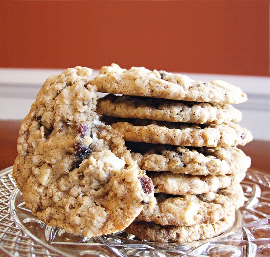 White Chocolate Cranberry Oatmeal Cookies | Tasty Kitchen: A Happy ...