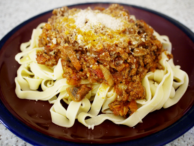 Tagliatelle with Ragu Sauce (Bolognese)   Tasty Kitchen: A Happy ...
