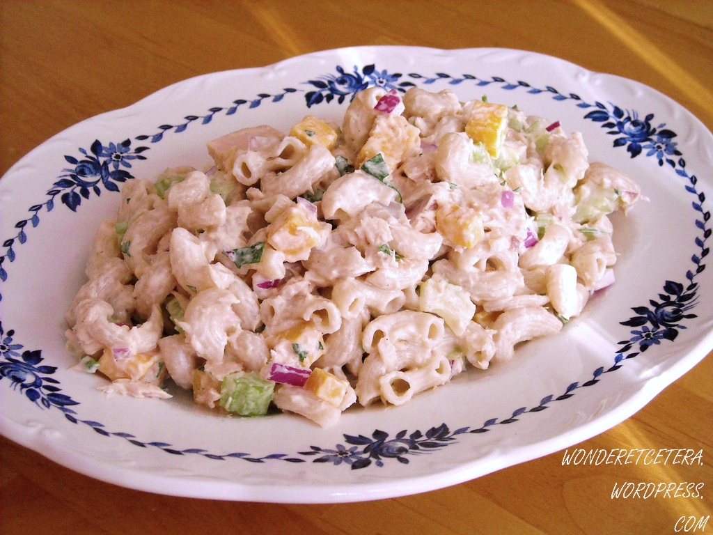 Tuna macaroni salad gluten free tasty kitchen a happy for Macaroni salad with tuna fish
