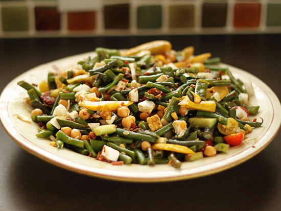Keeping Up With The Beans Crunchy Cold Bean Salad