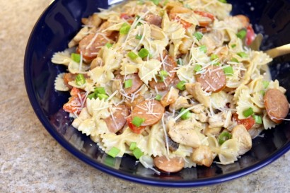Chicken sausage and shrimp pasta recipes