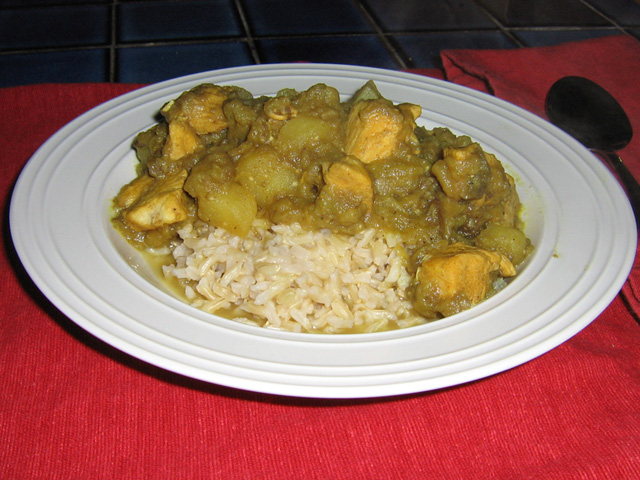 Chicken Eggplant Curry