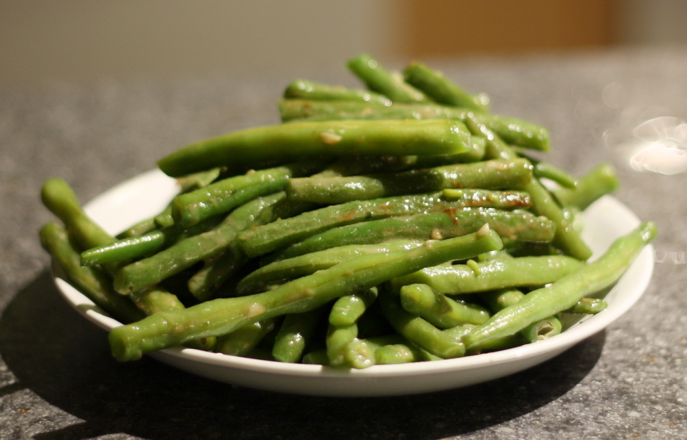 Garlicky Green Beans Recipe — Dishmaps