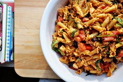 Sun ripened tomatoes pasta recipe