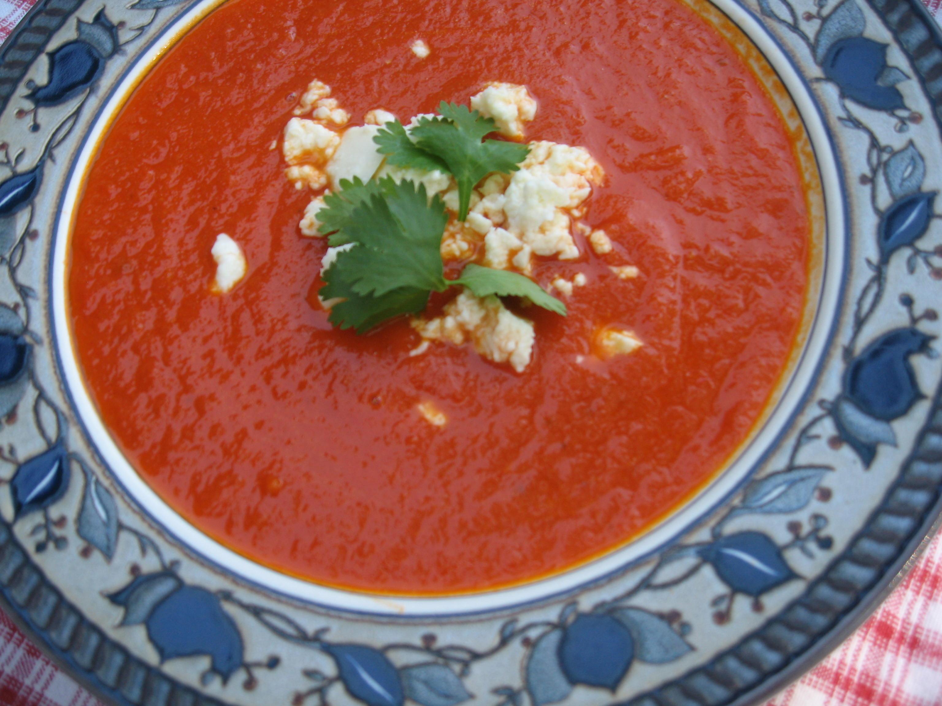 Chipotle-Tomato Soup with Queso Fresco   Tasty Kitchen: A Happy Recipe ...