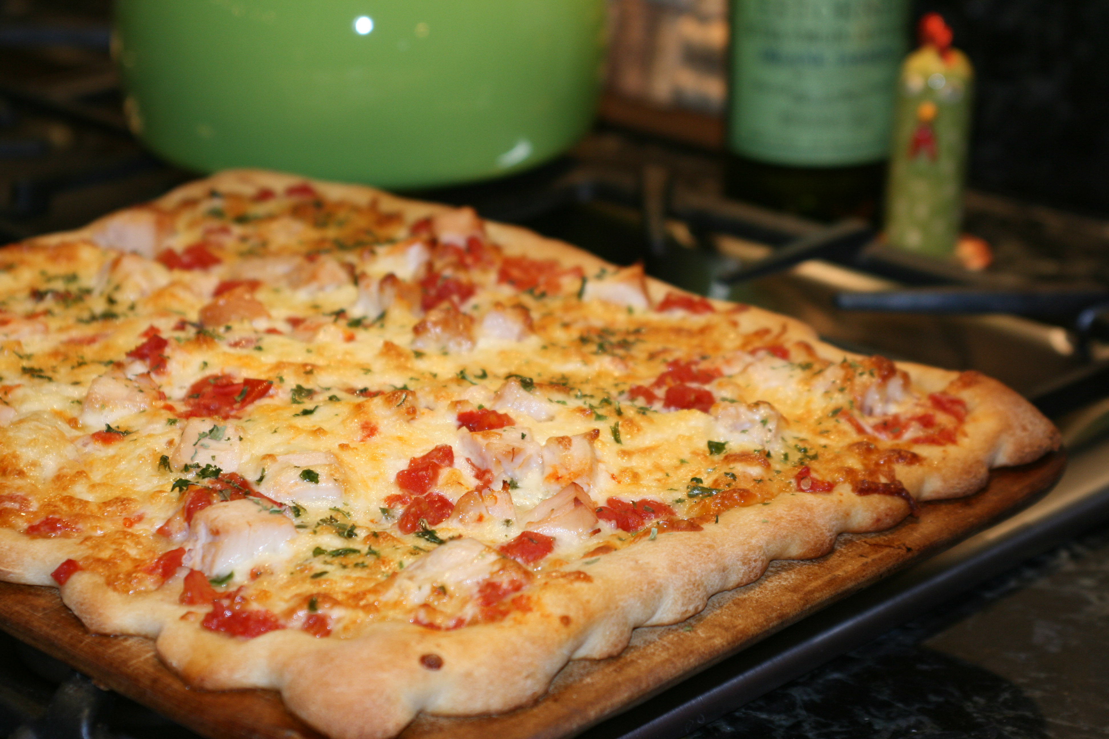 Пицца рецепт пошагово с курицей