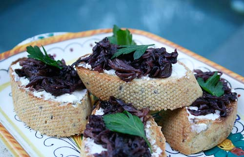 Bruschetta With Caramelized Radicchio And Goat Cheese ...