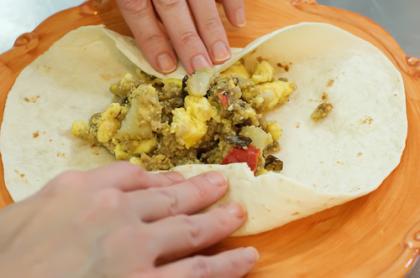 making burrito