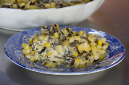 Fresh Corn with Wild Rice