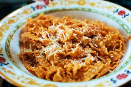 Vodka Cream Pasta With Italian Sausage