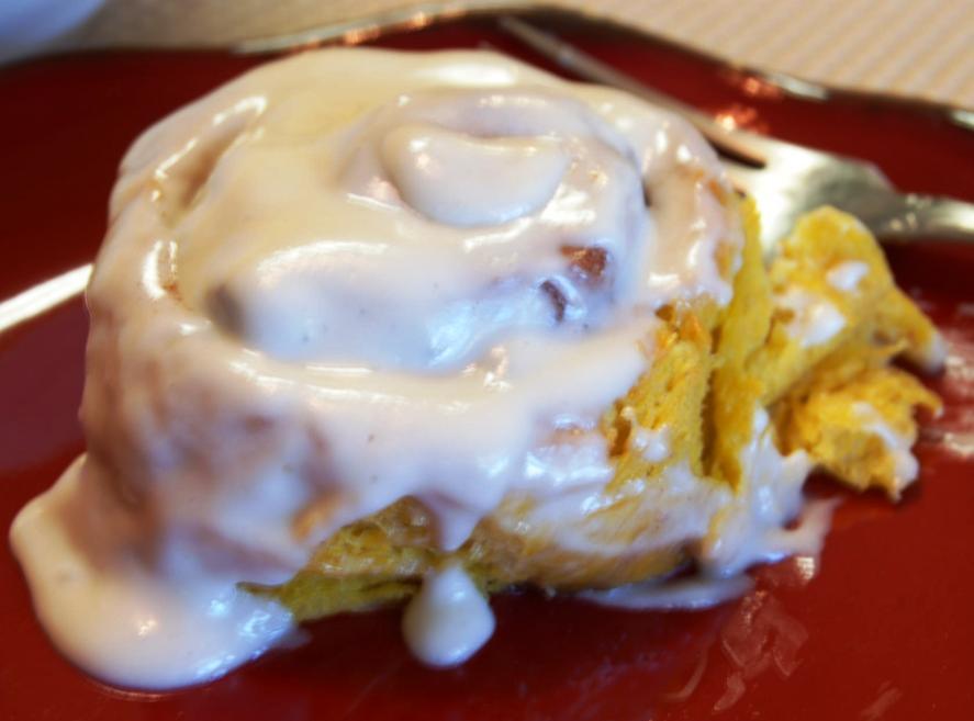 Pumpkin Cinnamon Rolls with Cream Cheese Icing | Tasty Kitchen: A ...