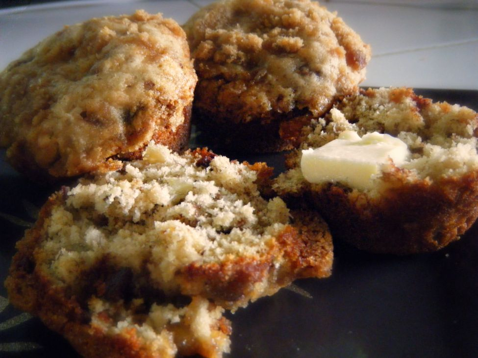 Banana Muffins with Brown Sugar Topping
