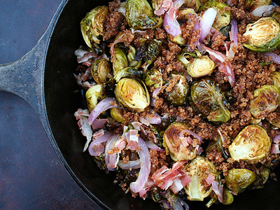 Roasted Brussels Sprouts with Pancetta | Tasty Kitchen: A Happy Recipe ...