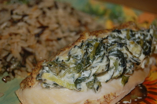 Chicken Stuffed with Cream Cheese, Spinach and Scallions | Tasty ...