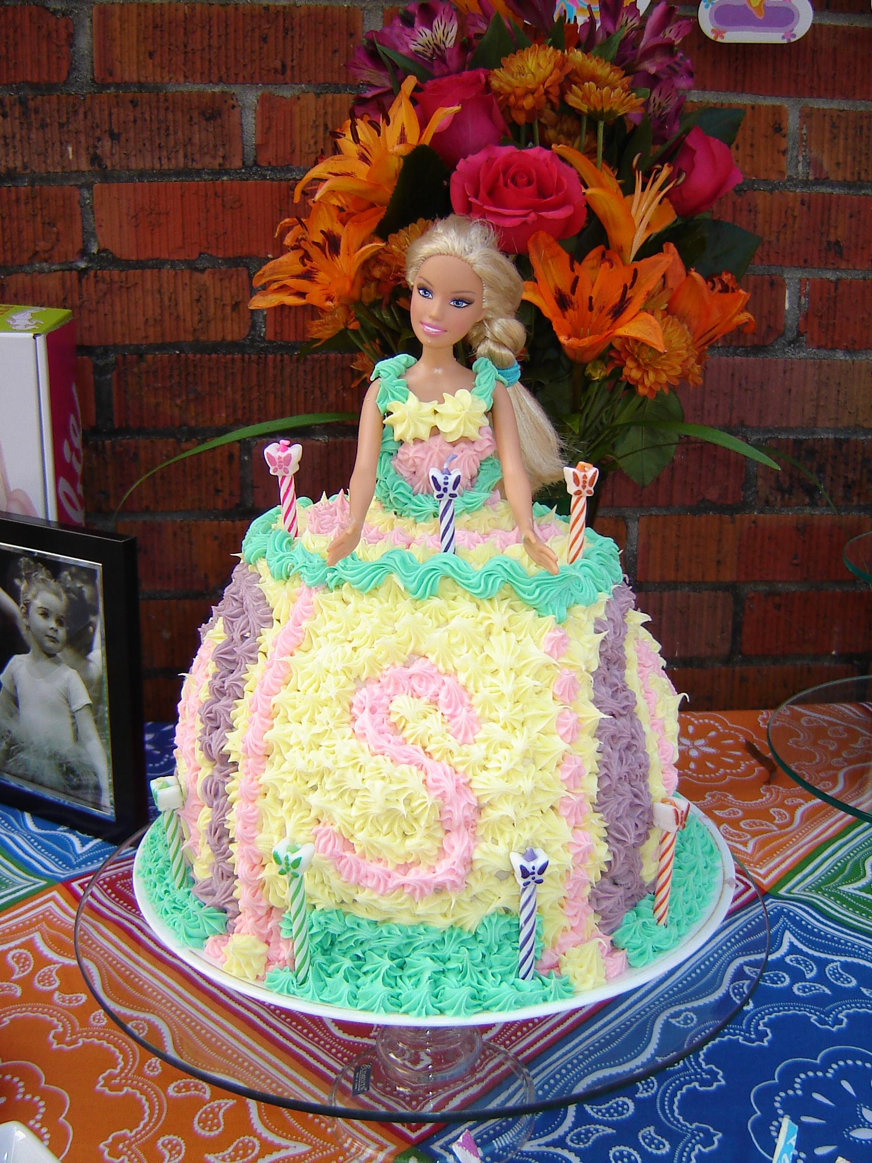 Enjoyable Barbie Birthday Cake Tasty Kitchen A Happy Recipe Community Funny Birthday Cards Online Alyptdamsfinfo