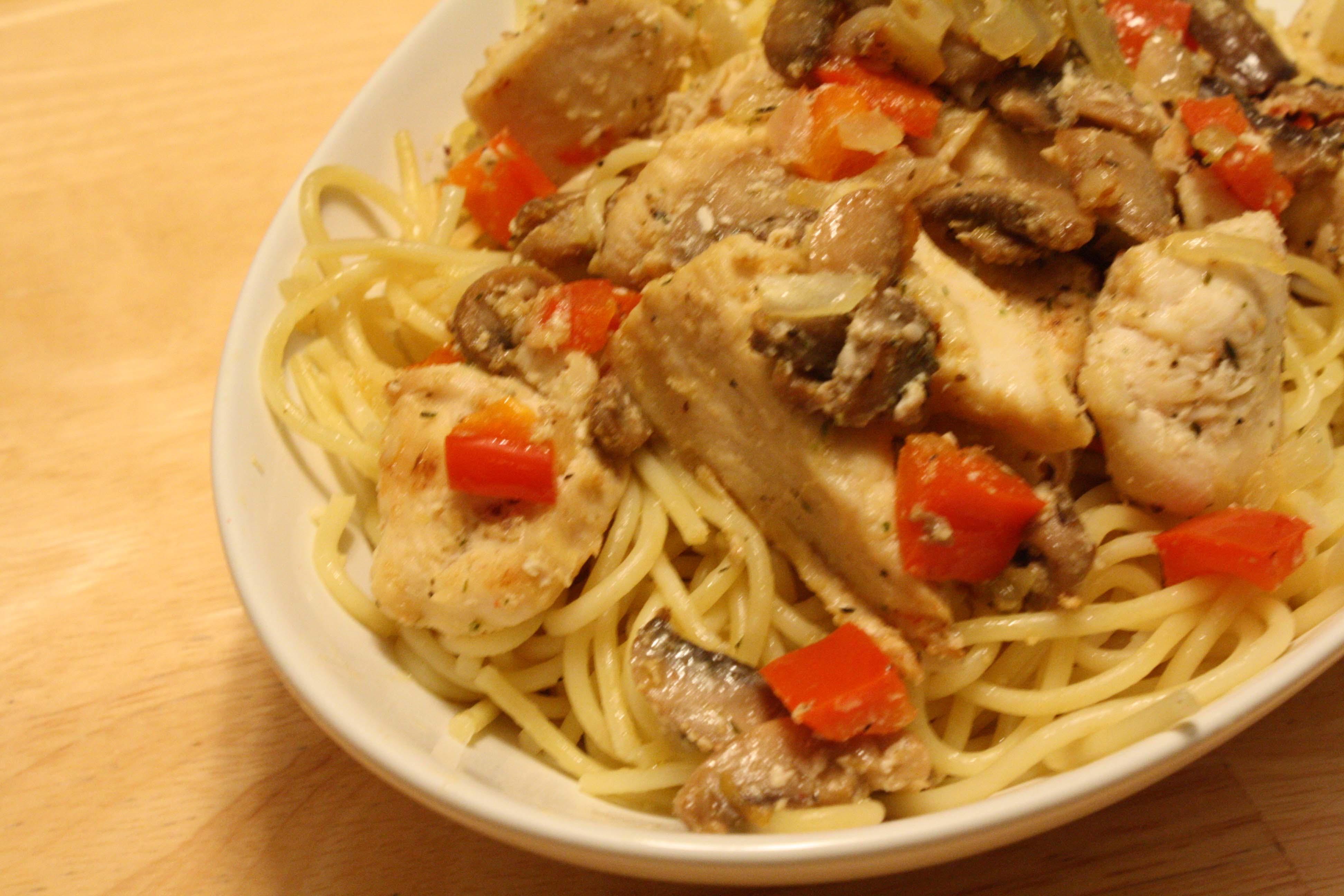 lemon chicken mushroom pasta