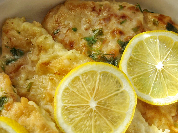 Chicken Francese - Lightened Up Recipe — Dishmaps