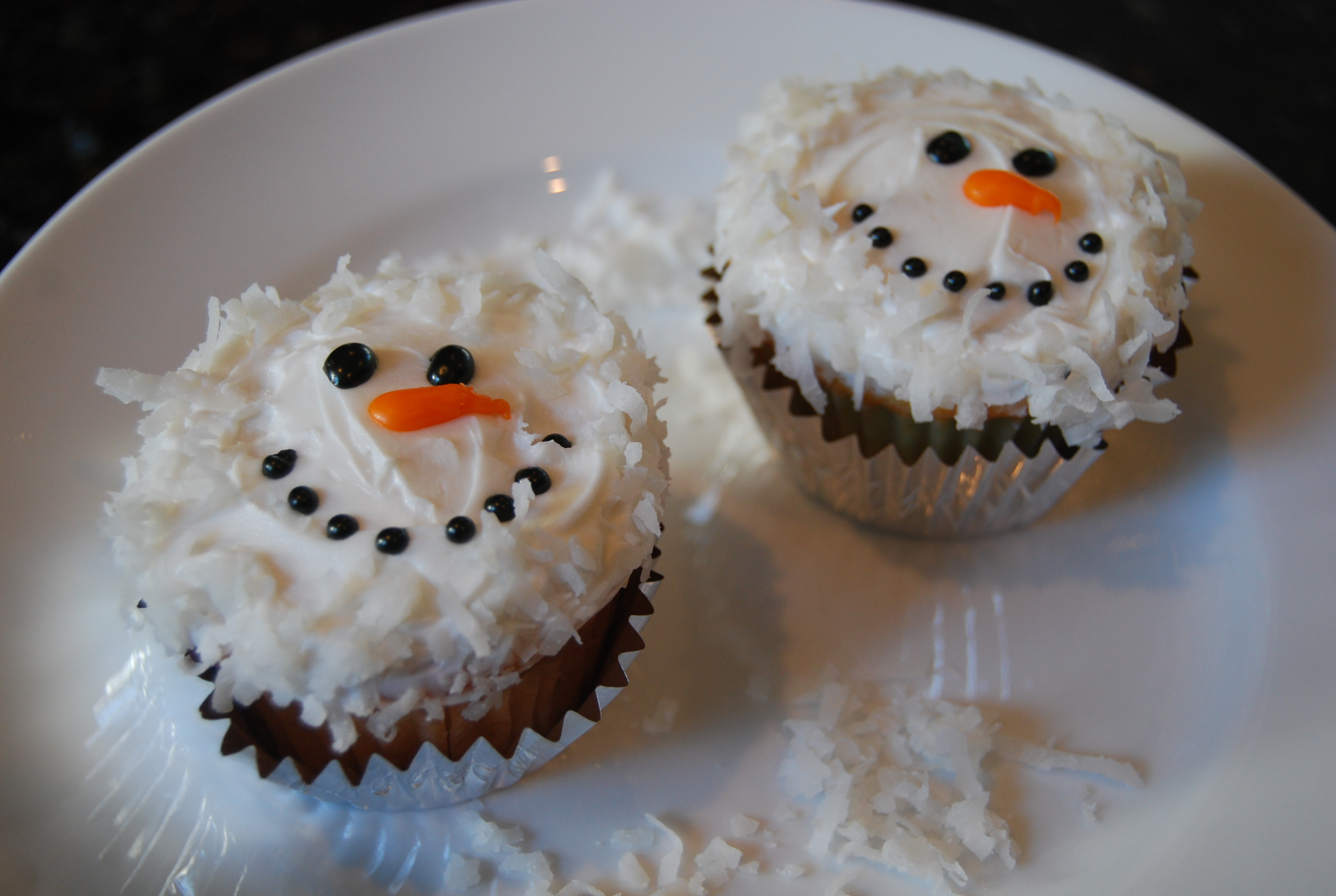 Coconut Snowmen Cupcakes | Tasty Kitchen: A Happy Recipe Community!