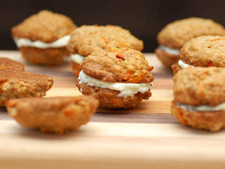 Carrot Cake Sandwich Cookies with Cream Cheese Filling ...