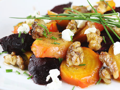 Roasted Beet Salad With Walnuts And Goat Cheese | Tasty Kitchen: A ...
