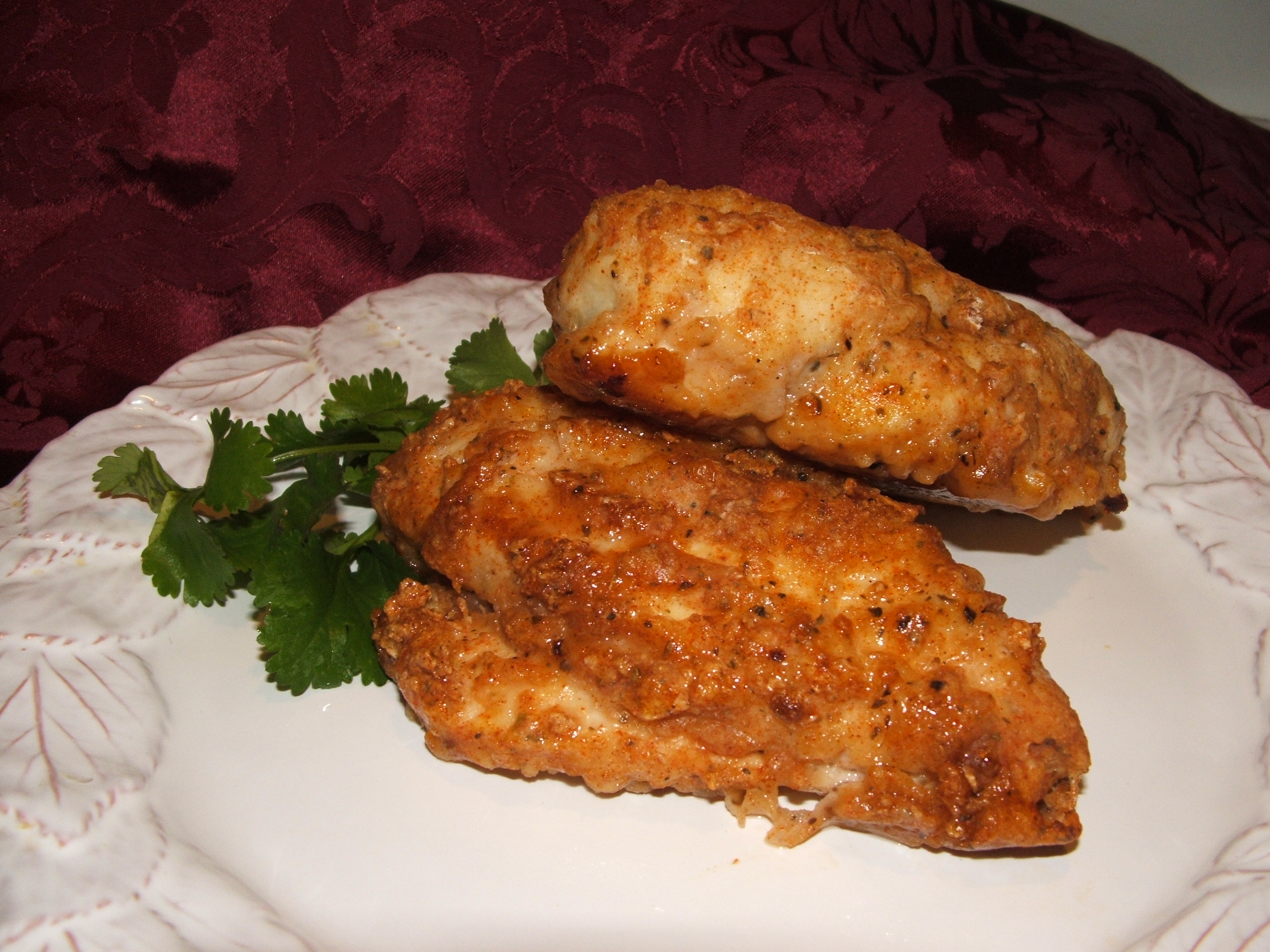 Spiced Up, Oven-Fried Chicken Recipe — Dishmaps