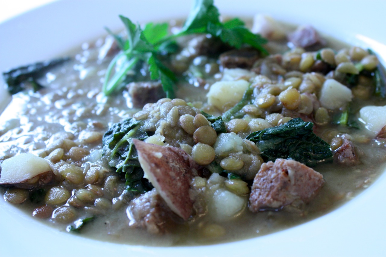 Lentil Stew with Chorizo and Kale | Tasty Kitchen: A Happy Recipe ...
