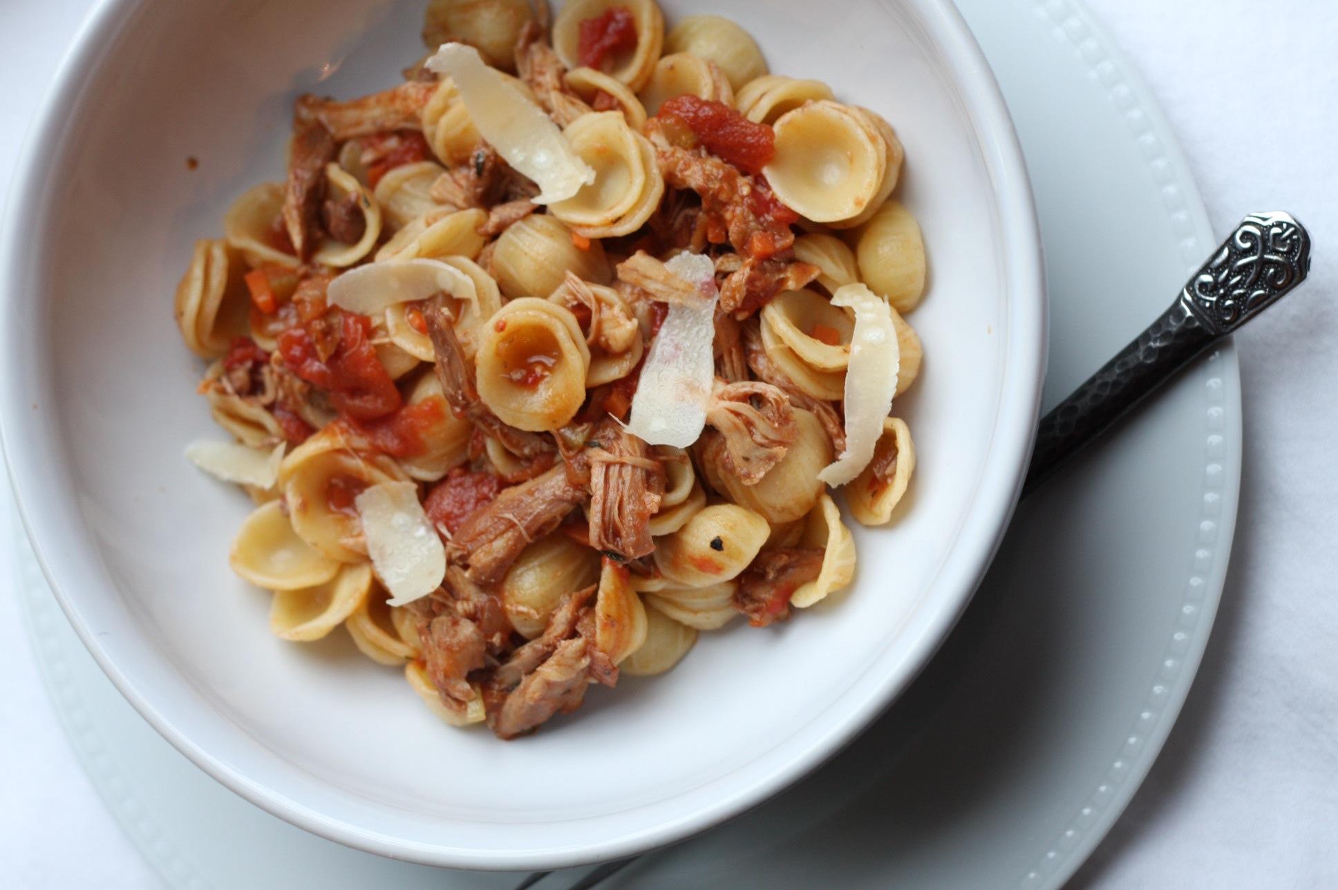 Chicken Ragu Sauce Over Orecchiette | Tasty Kitchen: A Happy Recipe ...