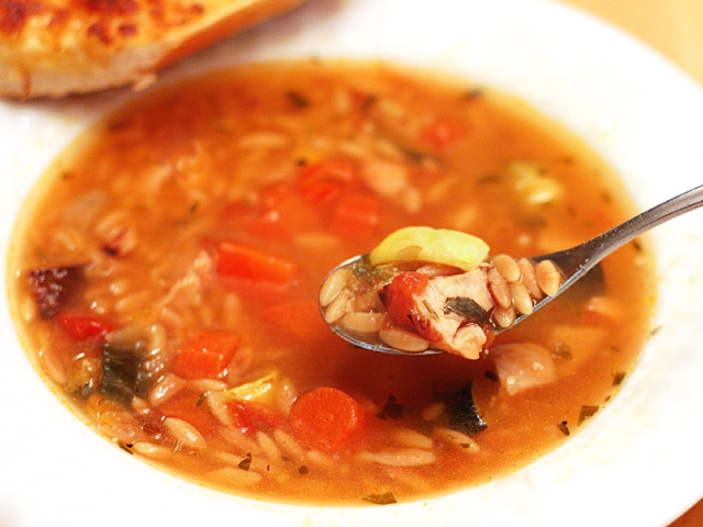 Roasted Vegetable & Toasted Orzo Soup   Tasty Kitchen: A Happy Recipe ...