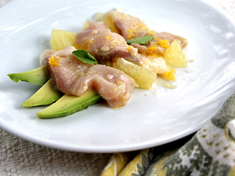 Hamachi Crudo With Avocado And Pomelo Tasty Kitchen A Happy