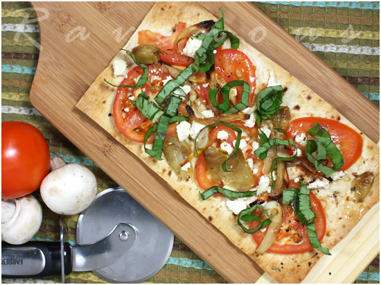 Lavash Flatbread Pizzas Recipe — Dishmaps
