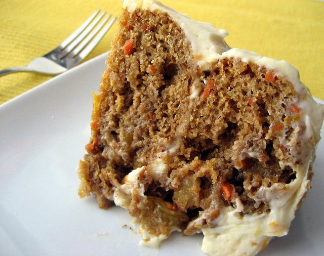 Low Fat Carrot Cake with Orange Cream Cheese Frosting | Tasty Kitchen ...