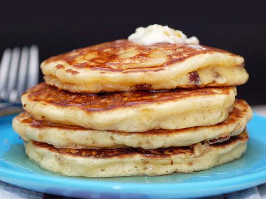 Maple Bacon Pancakes Recipe — Dishmaps
