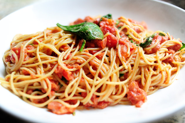 Pasta with Tomato-Blue Cheese Sauce | Tasty Kitchen: A Happy Recipe ...
