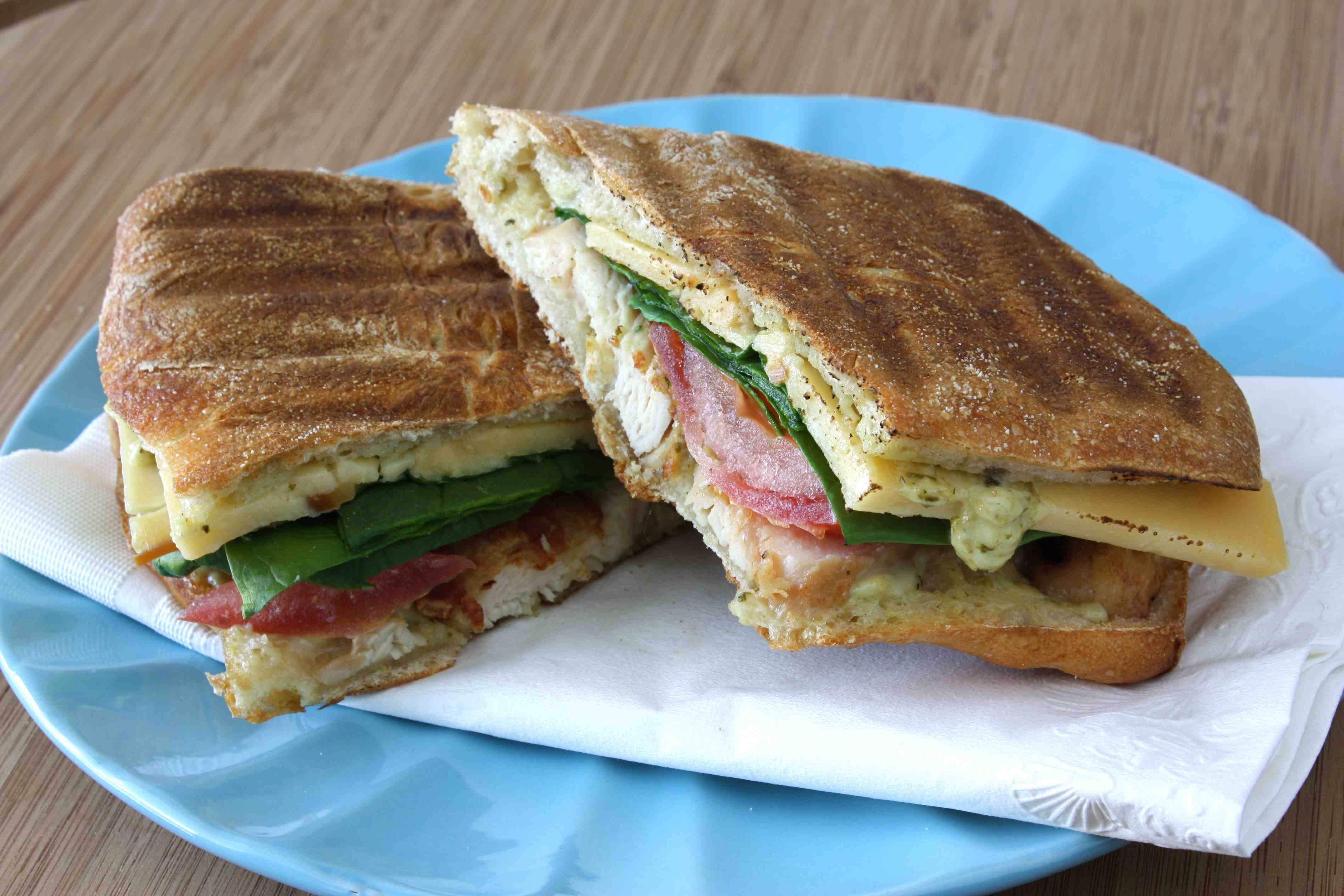 Grilled Chicken Bacon Smoked Gouda Panini With Pesto Mayonnaise Tasty Kitchen A Happy Recipe Community
