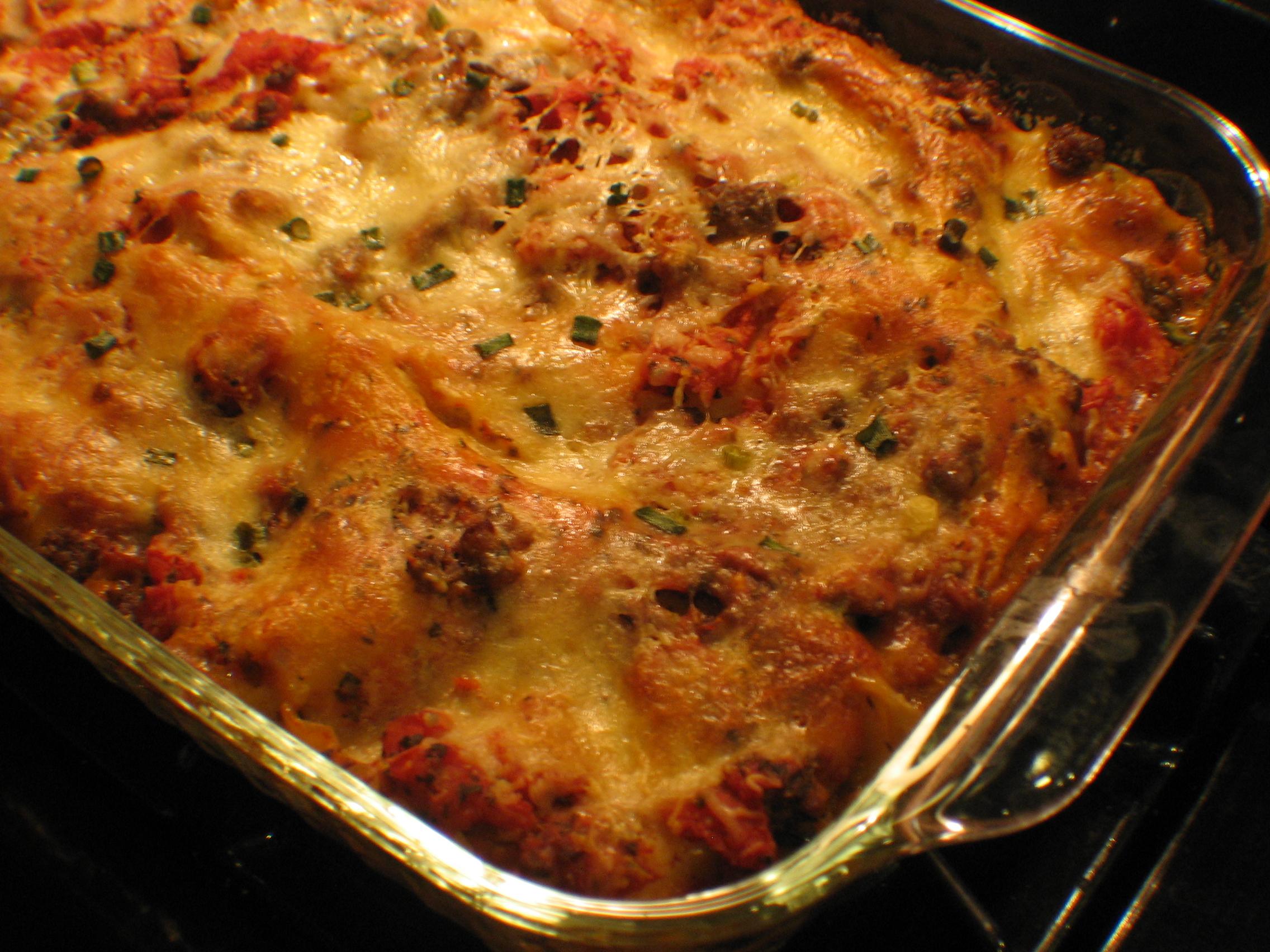 Лазанья с мясом и овощами рецепт