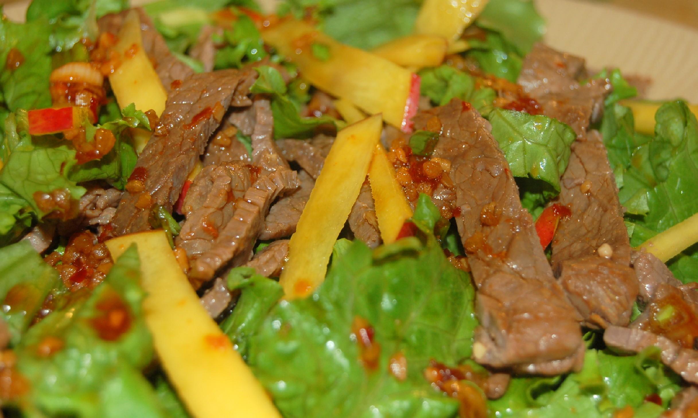 Рецепт вкусного мясного салата из говядины с простые и вкусные