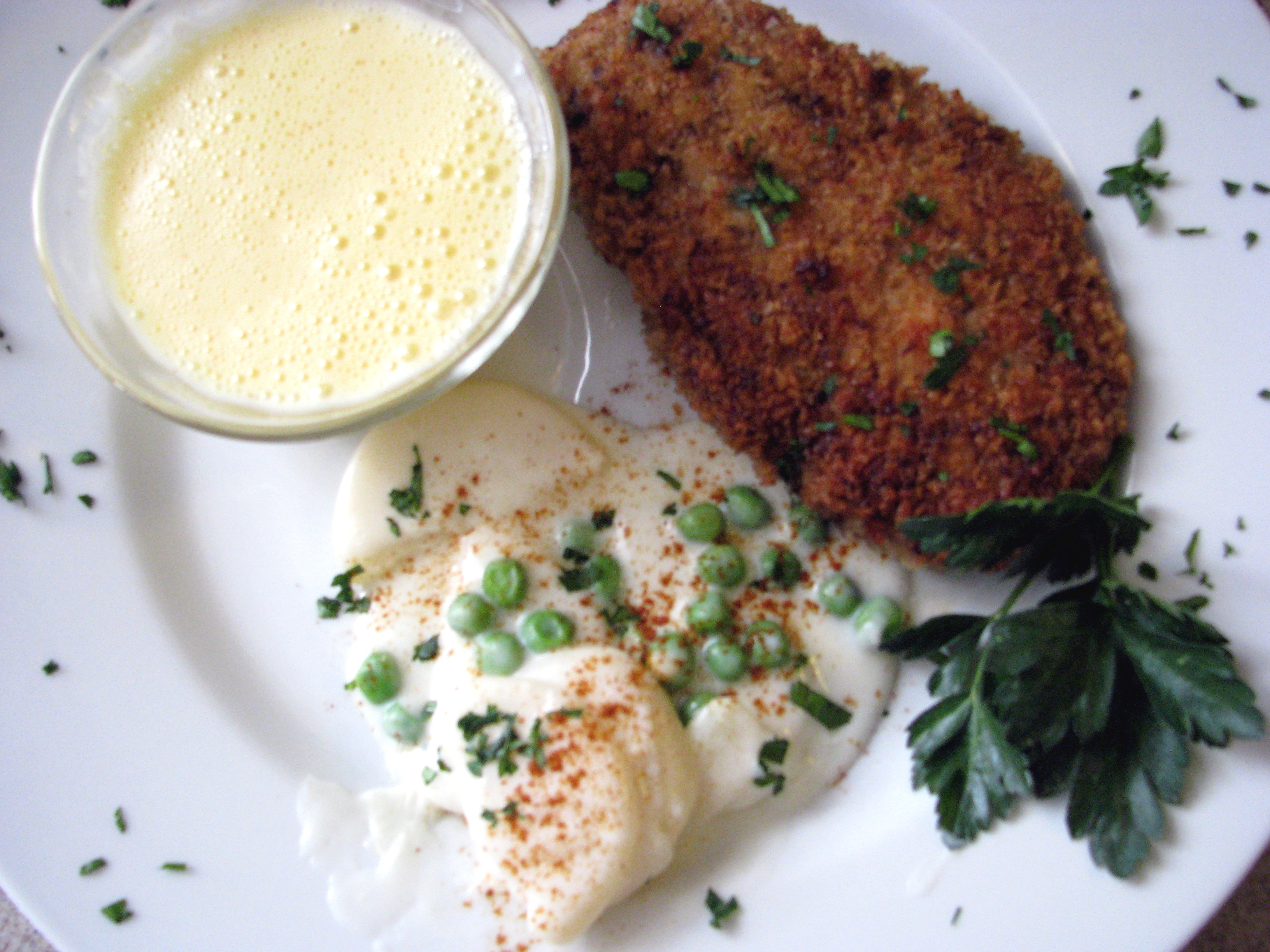 Chicken cutlets cooked in a double boiler 49