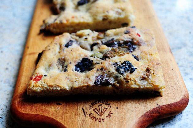 Olive Focaccia Recipe — Dishmaps