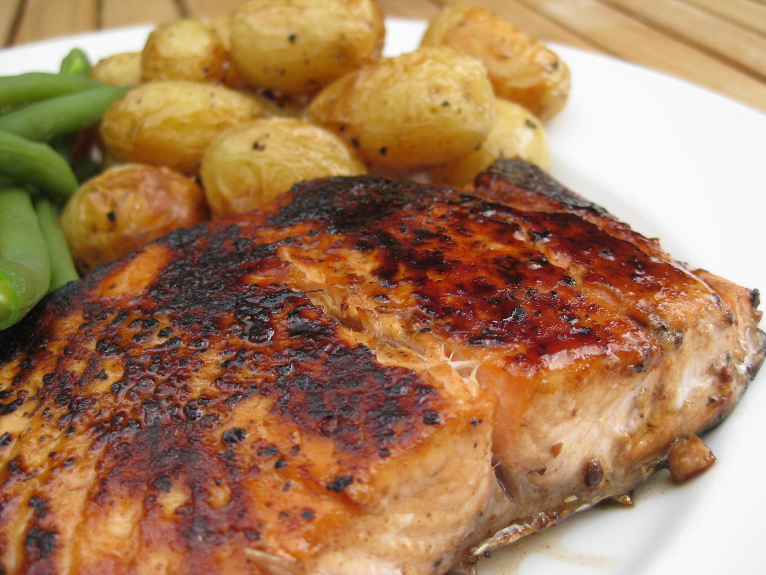 Balsamic-Glazed Salmon Fillets Recipe — Dishmaps