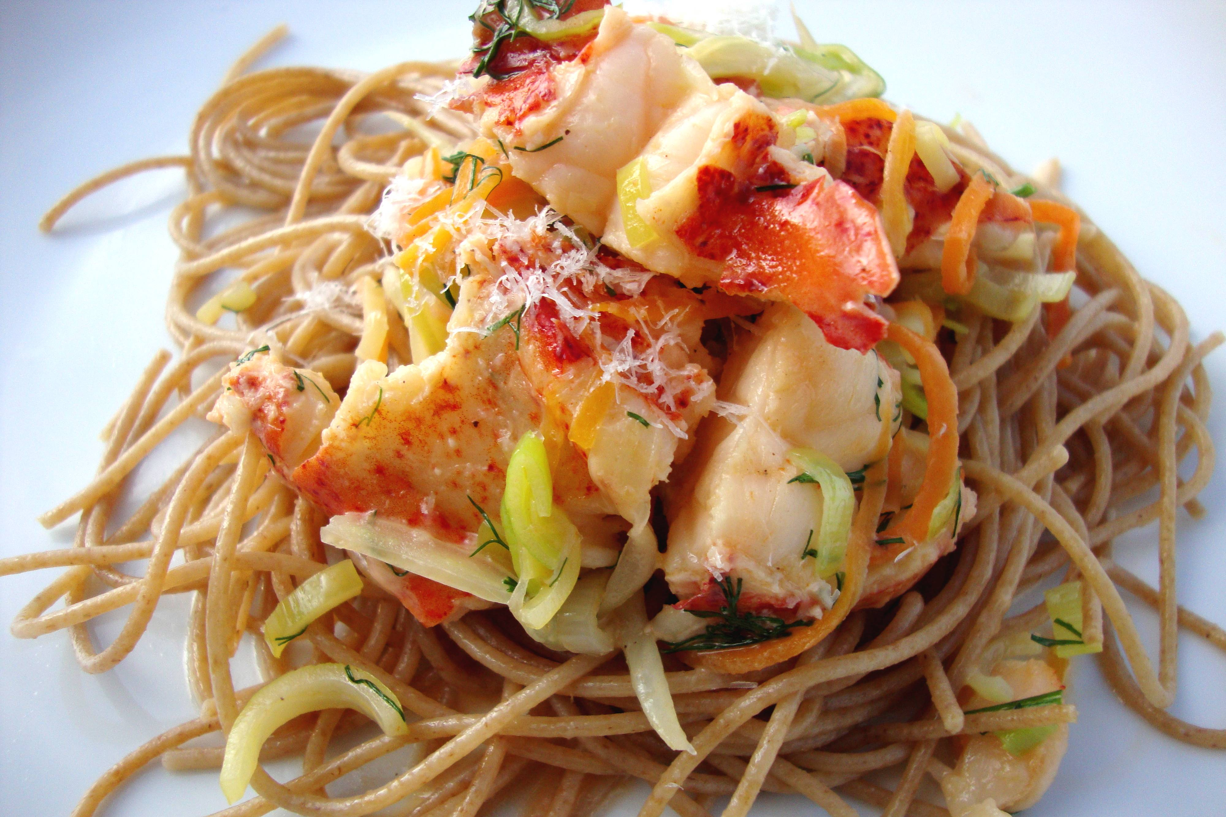 Lobster pasta with champagne dill cream sauce tasty for How to make lobster pasta