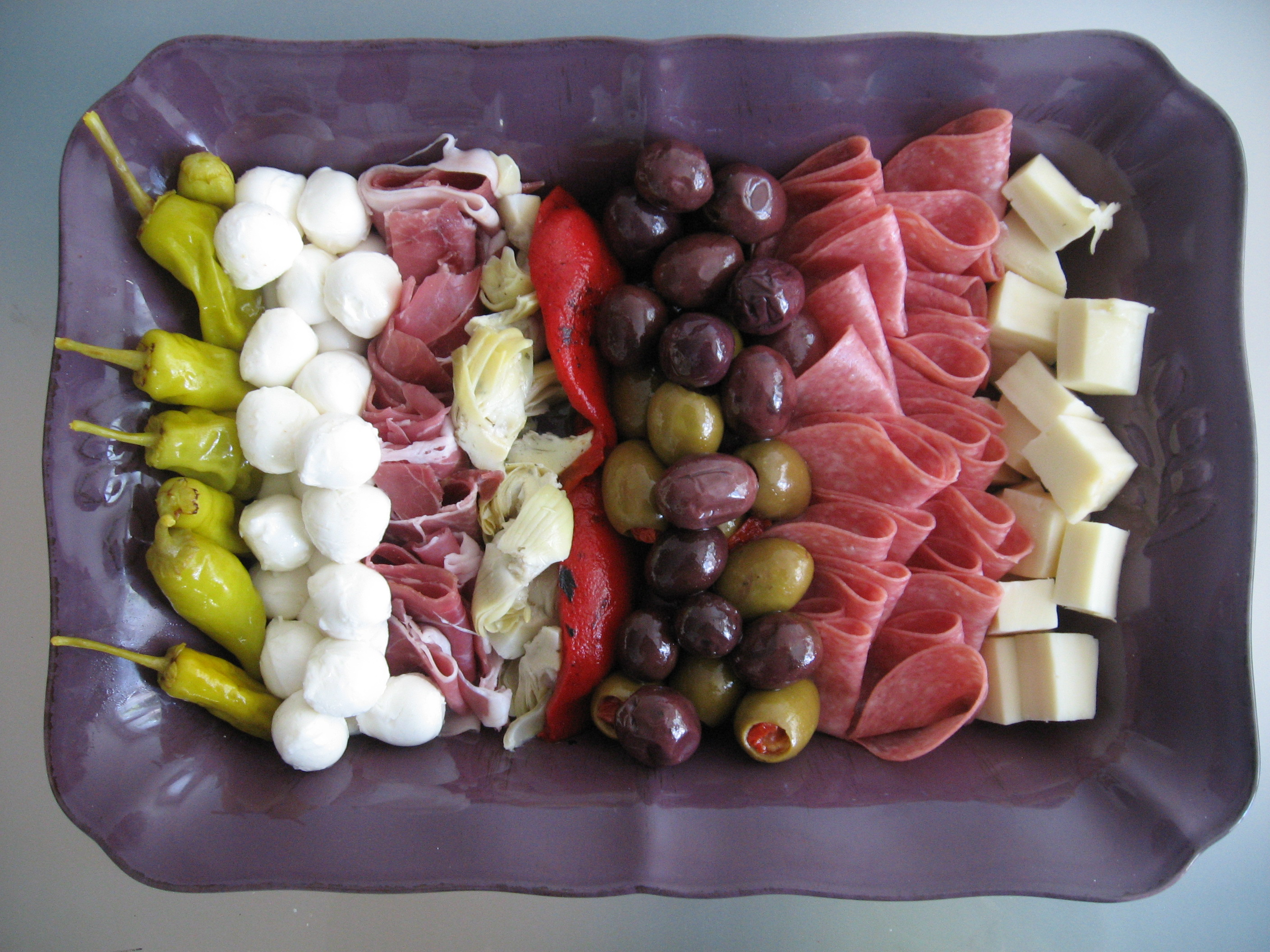 anatomy of an antipasti platter, or, how to set the bar impossibly