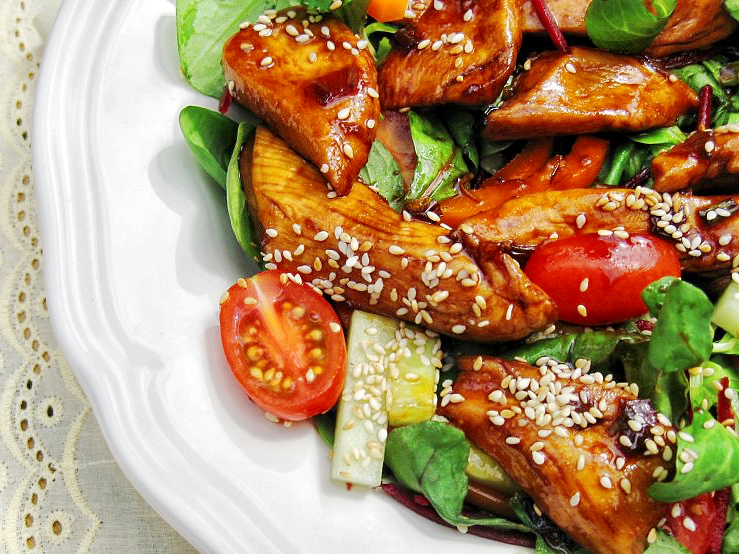 Warm Soy Toasted Sesame Chicken Salad Tasty Kitchen A Happy Recipe Community