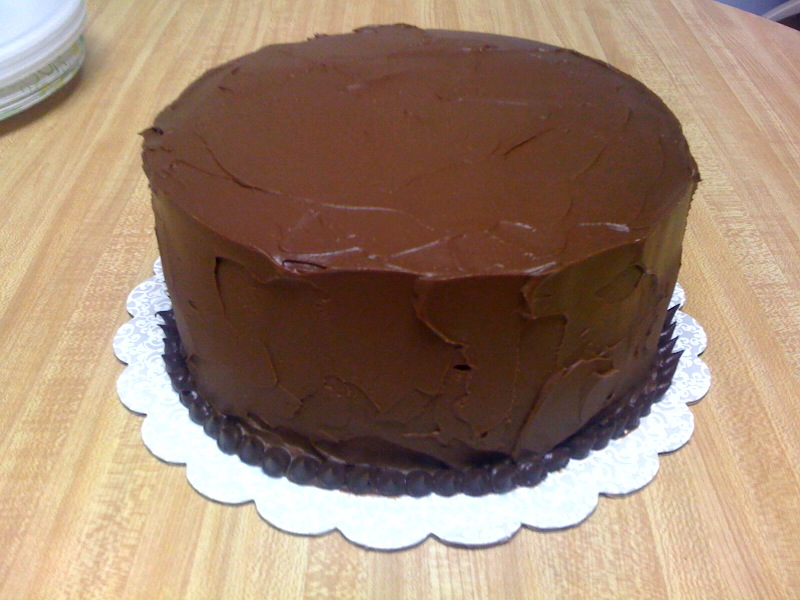 Chocolate Cake With Whipped Ganache Frosting Recipe — Dishmaps