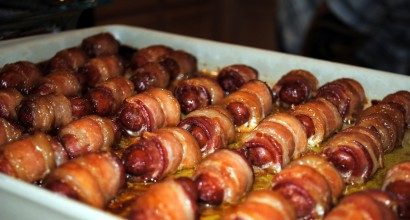 Little Hot Dogs Wrapped In Bacon