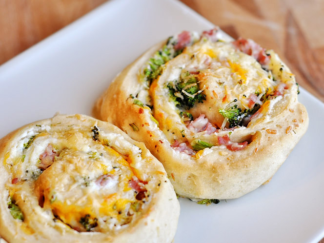 Ham And Broccoli Cheese Stuffed Spiral Rolls Tasty