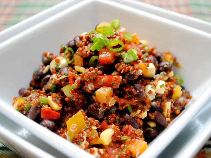 Red Quinoa And Black Bean Salad