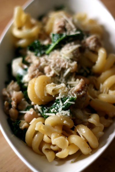 Kale and White Bean Pasta with Sausage | Tasty Kitchen: A Happy Recipe ...