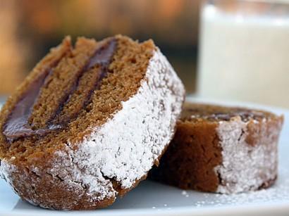 Gluten Free Pumpkin Roll with Mascarpone & Nutella Filling | Tasty ...