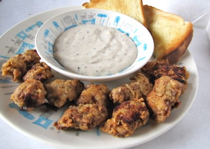 Chicken Fried Steak Bites with Country Gravy | Tasty Kitchen: A Happy ...