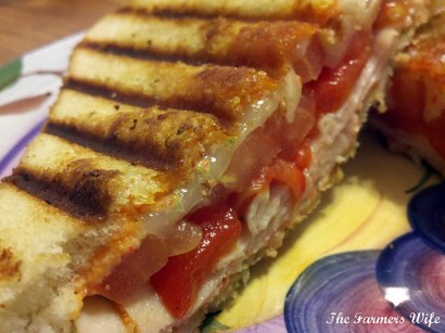 Chicken and Roasted Red Pepper Panini | Tasty Kitchen: A ...